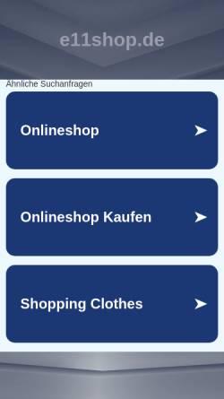 Vorschau der mobilen Webseite www.e11shop.de, Exit eleven GmbH