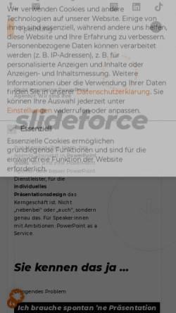 Vorschau der mobilen Webseite www.i-pointing.de, I-pointing