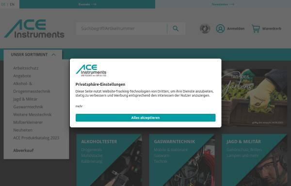 Vorschau von www.ace-technik.de, ACE Handels- und Entwicklungs GmbH