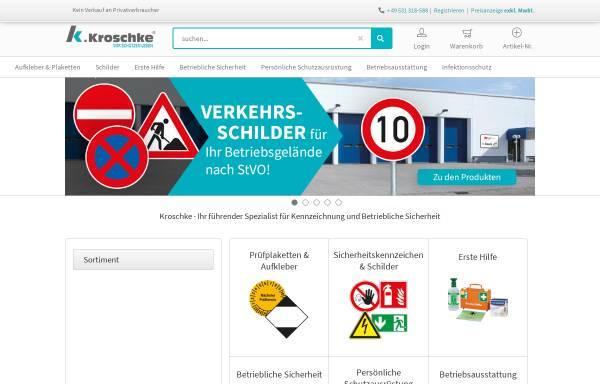 Vorschau von www.kroschke.com, Kroschke Sign-International GmbH