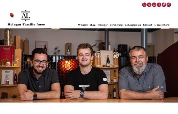 Vorschau von www.weingutauer.at, Auer, Weingut Familie