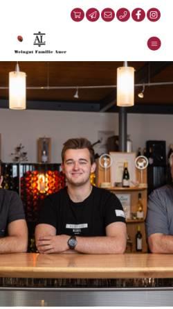 Vorschau der mobilen Webseite www.weingutauer.at, Auer, Weingut Familie