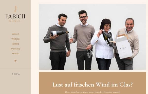 Vorschau von www.fabich-wein.com, Fabich, Obermarkersdorf, Weinviertel