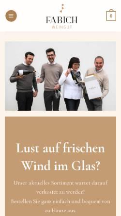 Vorschau der mobilen Webseite www.fabich-wein.com, Fabich, Obermarkersdorf, Weinviertel