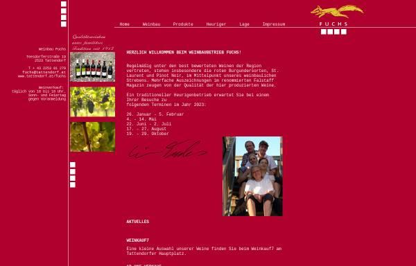 Vorschau von www.tattendorf.at, Fuchs, Weinbau Familie