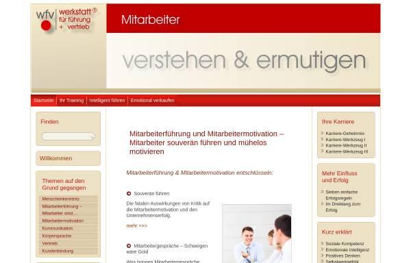 Vorschau von www.erfolgs-werkstatt.de, Wfv werkstatt für führung + vertrieb - Volker Kampehl