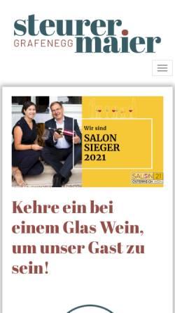 Vorschau der mobilen Webseite www.weinbau-maier.at, Maier, Weinbau, in Grunddorf, Kamptal