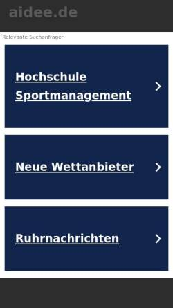 Vorschau der mobilen Webseite www.aidee.de, Aidee