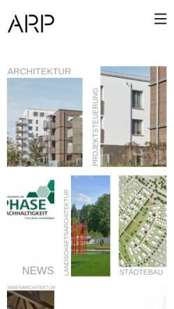 Vorschau der mobilen Webseite www.arp-stuttgart.de, ArchitektenPartnerschaft Stuttgart GbR (ARP)