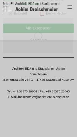 Vorschau der mobilen Webseite www.achim-dreischmeier.de, Dreischmeier, Achim