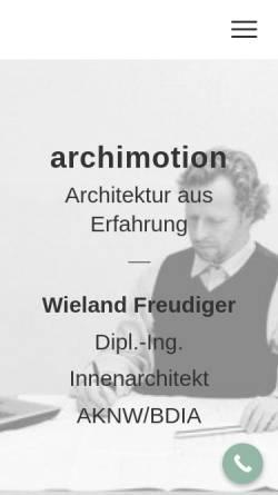 Vorschau der mobilen Webseite www.archimotion.de, Freudiger, Wieland