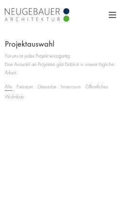 Vorschau der mobilen Webseite www.arch-neugebauer.at, Neugebauer, Meinhard