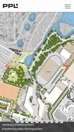 Vorschau der mobilen Webseite ppl-hh.de, PPL Architektur und Stadtplanung