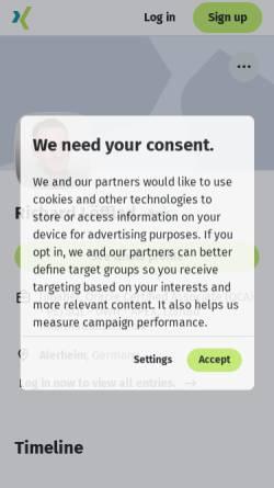 Vorschau der mobilen Webseite www.loefflad.de, Löfflad Informationstechnik GmbH