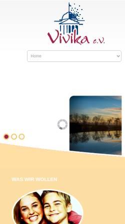 Vorschau der mobilen Webseite www.vivika.de, Vivika e.V.