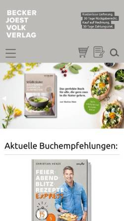 Vorschau der mobilen Webseite bjvv.de, Becker Joest Volk Verlag GbR