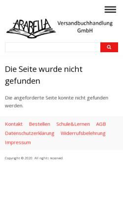 Vorschau der mobilen Webseite www.arabellabuch.de, Friedl-Brehm-Verlag