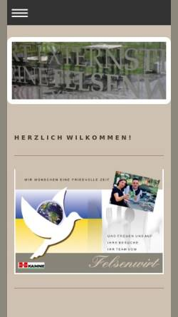 Vorschau der mobilen Webseite www.felsenwirt.de, Felsenwirt Externsteine
