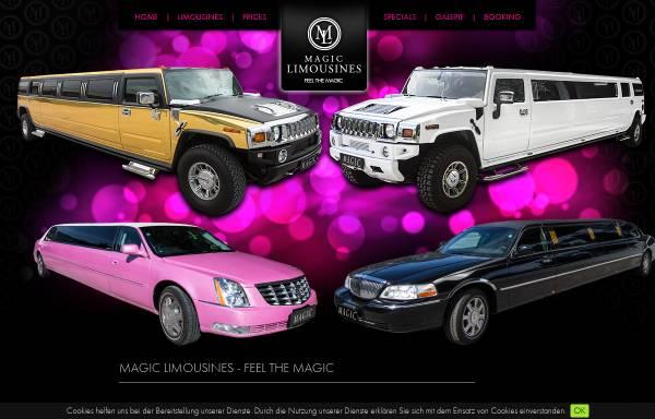 Vorschau von www.magic-limousines.at, Magic Limousines