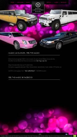 Vorschau der mobilen Webseite www.magic-limousines.at, Magic Limousines
