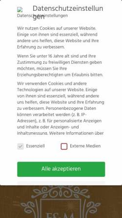 Vorschau der mobilen Webseite www.e-und-m.at, Spahic, Nermin - E & M Limousinenvermietung
