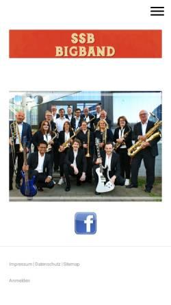 Vorschau der mobilen Webseite www.ssbbigband.de, SSB Big Band Geilenkirchen