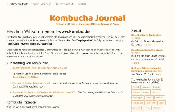 Vorschau von www.kombu.de, Kombucha Journal von Günther W. Frank