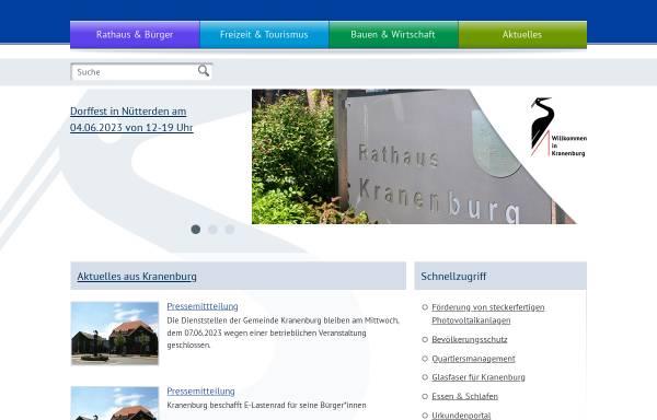 Vorschau von www.kranenburg.de, Gemeinde Kranenburg