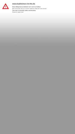 Vorschau der mobilen Webseite www.badminton-im-htv.de, Badminton im Hundsmühler TV
