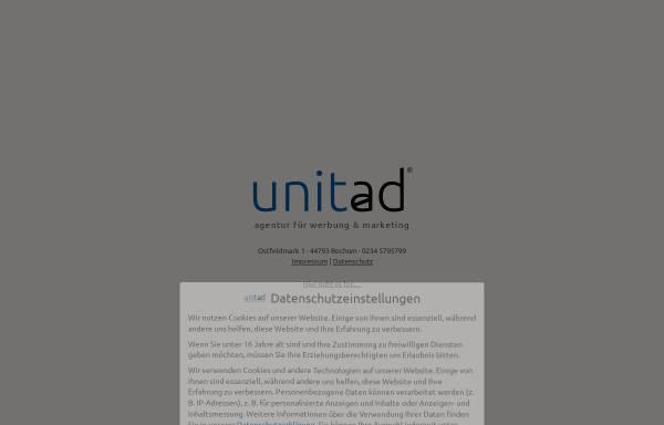 Vorschau von www.unitad.de, Unitad Werbeagentur, Agentur für Kommunikation und Grafikdesign