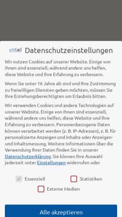 Vorschau der mobilen Webseite www.unitad.de, Unitad Werbeagentur, Agentur für Kommunikation und Grafikdesign