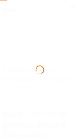 Vorschau der mobilen Webseite www.gii.de, gii die Presse-Agentur GmbH