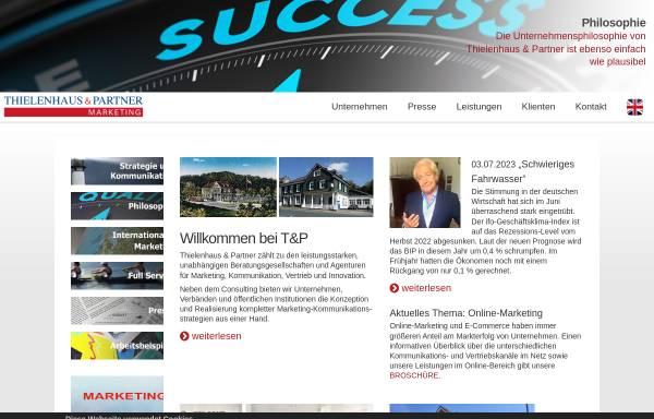 Vorschau von www.thielenhaus.de, Thielenhaus & Partner Agentur für Marketing GmbH