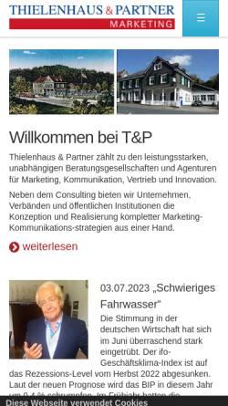 Vorschau der mobilen Webseite www.thielenhaus.de, Thielenhaus & Partner Agentur für Marketing GmbH