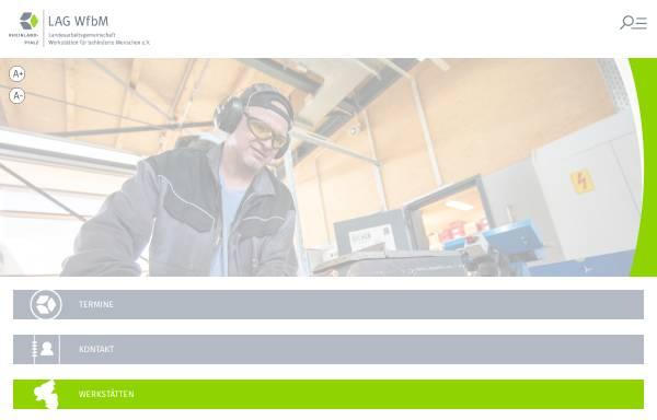 Vorschau von www.lag-wfbm-rlp.de, Landesarbeitsgemeinschaft Werkstätten für behinderte Menschen