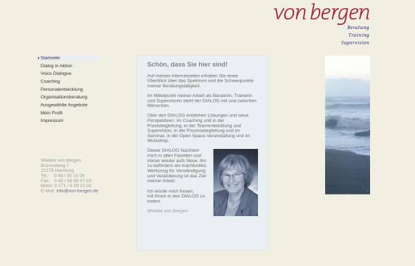 Vorschau von www.von-bergen.de, Wiebke von Bergen - Beratung, Training, Supervision