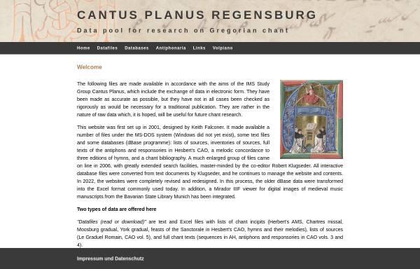 Vorschau von www.uni-regensburg.de, Cantus Planus