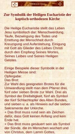 Vorschau der mobilen Webseite www.coptic-churches.ch, Koptische Liturgie