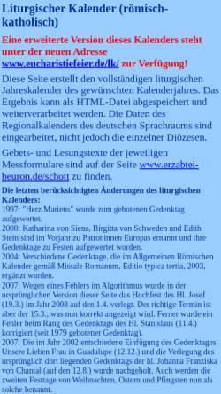 Vorschau der mobilen Webseite www.salesianer.de, Liturgischer Kalender