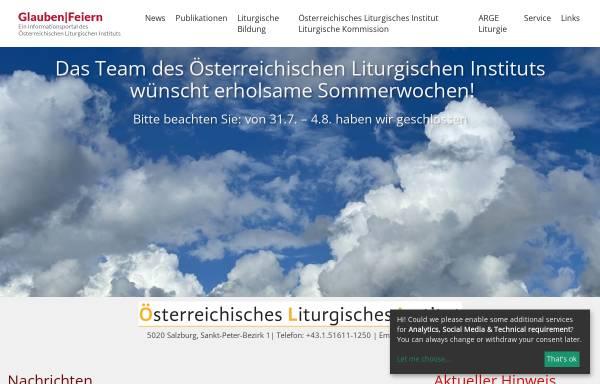 Vorschau von www.liturgie.at, Österreichisches Liturgisches Institut
