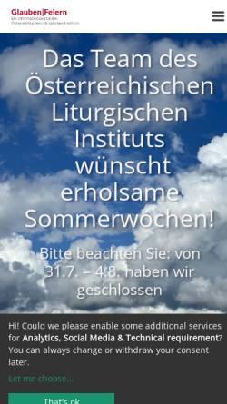 Vorschau der mobilen Webseite www.liturgie.at, Österreichisches Liturgisches Institut