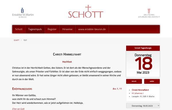 Vorschau von erzabtei-beuron.de, Schott-Messbuch