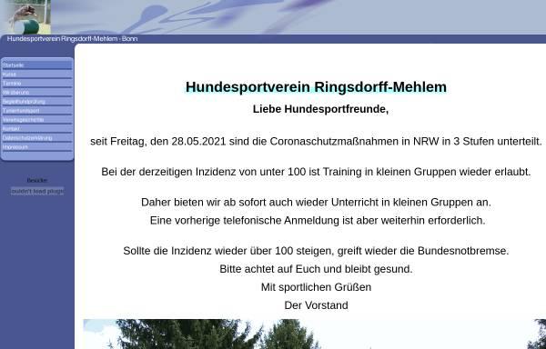 Vorschau von www.hundesportverein-ringsdorff-mehlem.de, Hundesportverein Ringsdorff-Mehlem