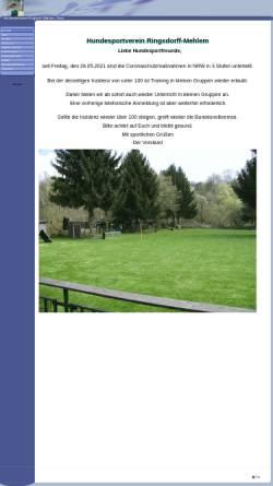 Vorschau der mobilen Webseite www.hundesportverein-ringsdorff-mehlem.de, Hundesportverein Ringsdorff-Mehlem