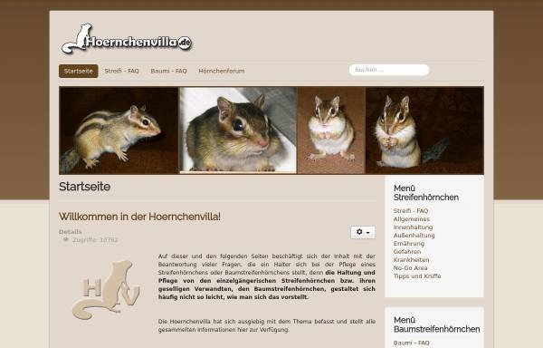 Vorschau von www.hoernchenvilla.de, Hoernchenvilla.de