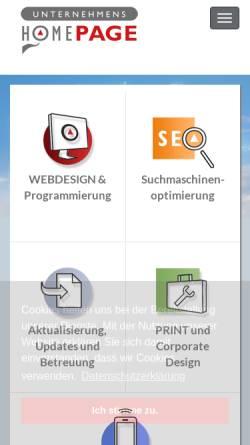 Vorschau der mobilen Webseite unternehmenshomepage.de, Gross & Gross GbR