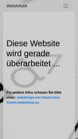 Vorschau der mobilen Webseite www.webartista.eu, WebArtistA - Deborah Klugt