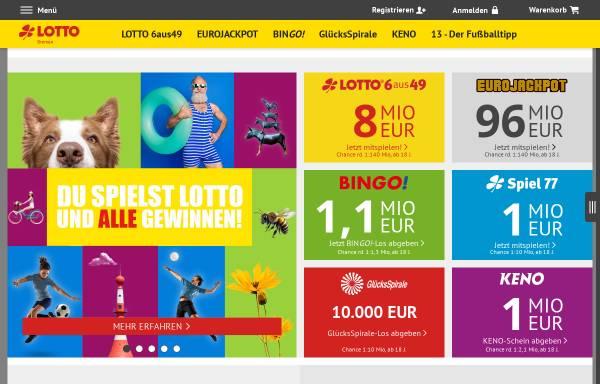 Vorschau von www.lotto-bremen.de, Bremer Toto Lotto GmbH