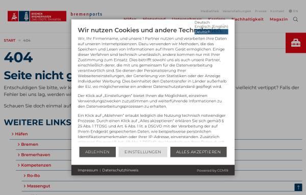 Vorschau von www.bremenports.de, Bremische Hafenvertretung