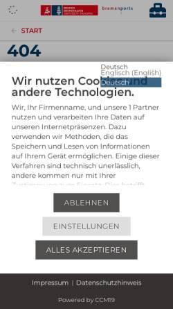 Vorschau der mobilen Webseite www.bremenports.de, Bremische Hafenvertretung